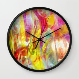Abstract Multi-coloured 1490 Wall Clock