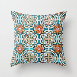 Seamless Floral Pattern Ornamental Tile Design : 1 Throw Pillow