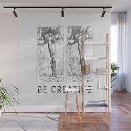 BE CREATIVE - Funny Dachshund Dog Illustration Wall Mural
