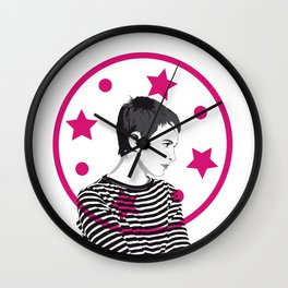 Jean Seberg//Black & White Wall Clock