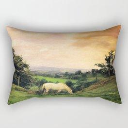 Farmland in Cumbria Rectangular Pillow