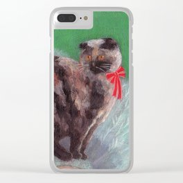Cat on Tree Clear iPhone Case