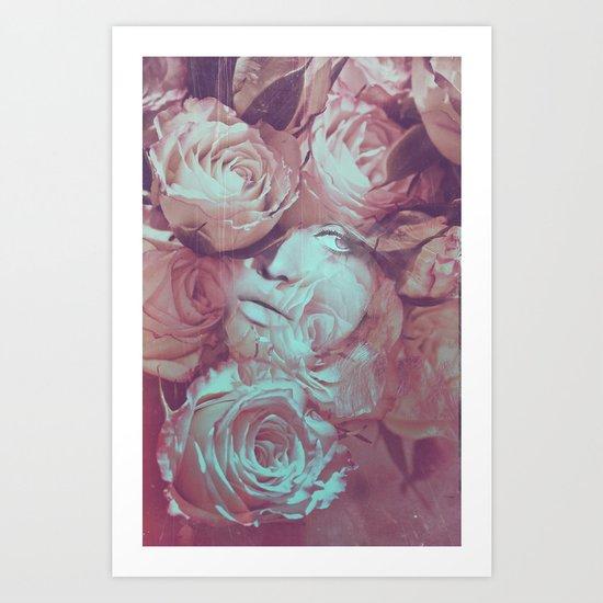 Rose's Eye Art Print
