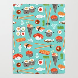 Happy Sushi Poster