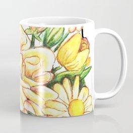 Tall White Cat Coffee Mug