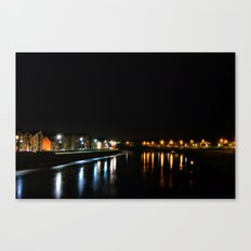The River Lune at Night Canvas Print