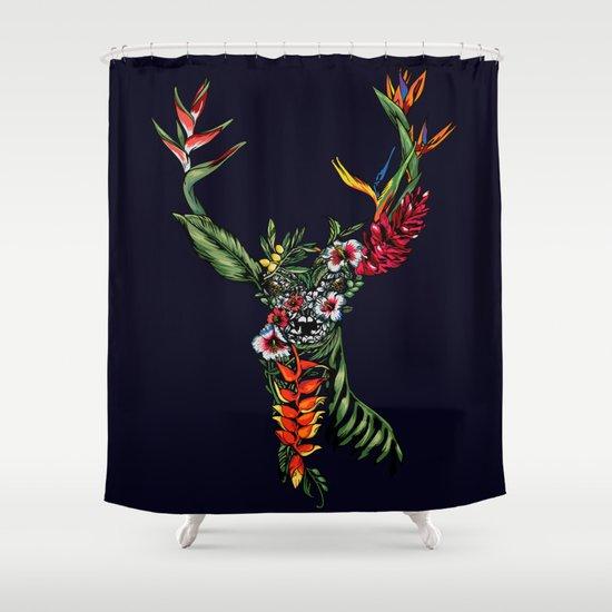 Tropical Deer Shower Curtain