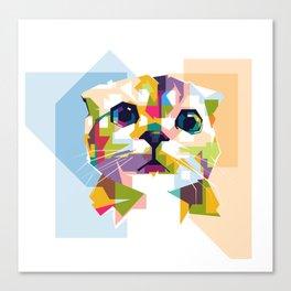 Little colorful cat Canvas Print