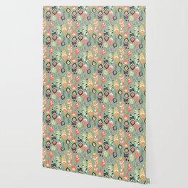 Tribal feather pattern 011 Wallpaper