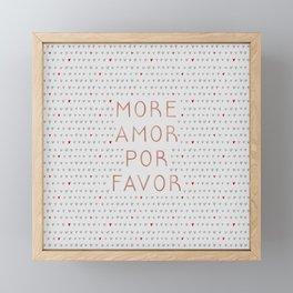 More Amor Rose Gold, Romantic Quote Framed Mini Art Print