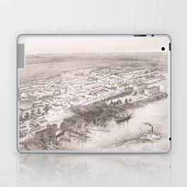 Vintage Pictorial Map of Hoboken NJ (1860) Laptop & iPad Skin