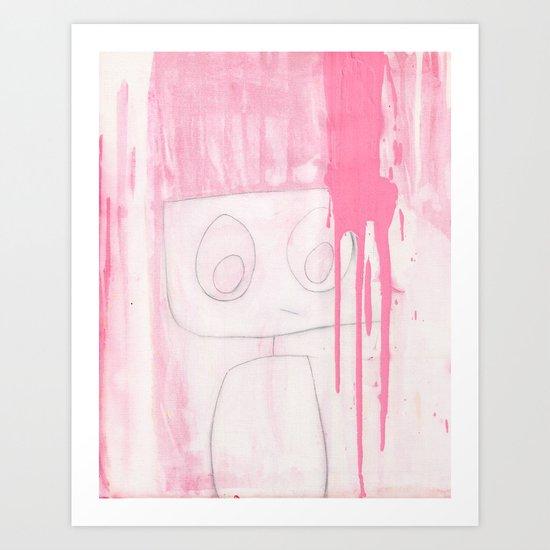 Pinked Robot Art Print