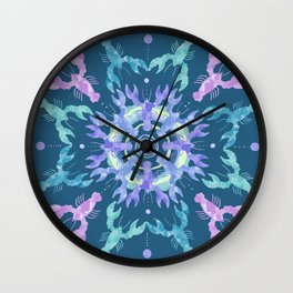 Lobster Mandala Wall Clock