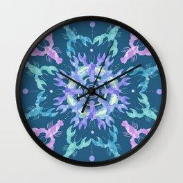 Lobster Mandala Wall Clock