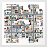 the neighbourhood Art Prints featuring Neighbourhood pattern by Rceeh