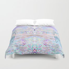 Light Cities of the New World Duvet Cover