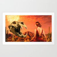 A Beauty & the Beast Love Story Art Print