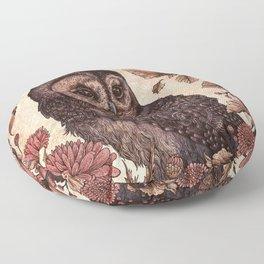 Tawny Owl Pink Floor Pillow