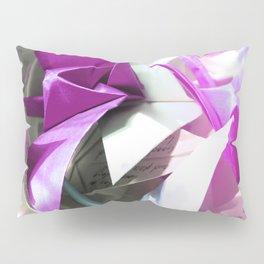 Senbazuru | pink n silver Pillow Sham