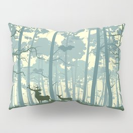 deer and deer in the forest Pillow Sham