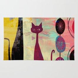 MidMod 2 Cats Graffiti Rug