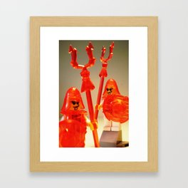 Ching Dynasty Chinese Warrior Custom LEGO Minifigure with Trans Orange Armour by Chillee Wilson Framed Art Print
