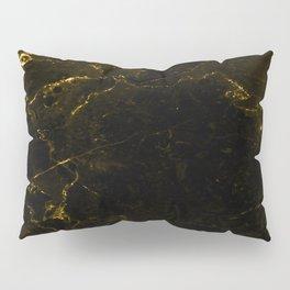 Black Gold Marble Pillow Sham