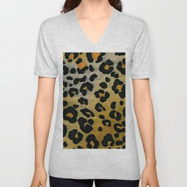 Cheetah Animal Pattern Print Unisex V-Neck