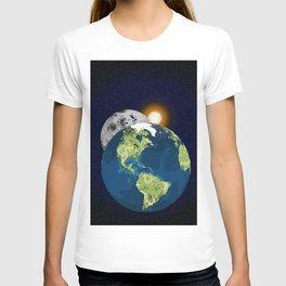 Earth Moon and Sun T-shirt