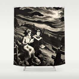 Classical Masterpiece 'Letter from Overseas' by Thomas Hart Benton Shower Curtain