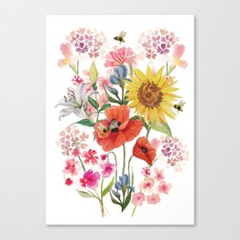 Tuscan Florals Canvas Print