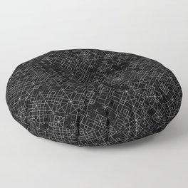 Black and White Overlap 1 Floor Pillow