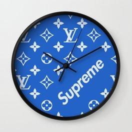 supreme lv blue Wall Clock