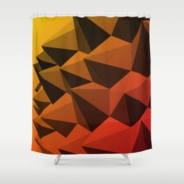 Spiky Brutalism - Swiss Army Pavilion Shower Curtain
