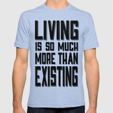 Living & Existing two Mens Fitted Tee Tri-Blue X-LARGE