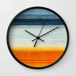 Yellowstone Orange Wall Clock