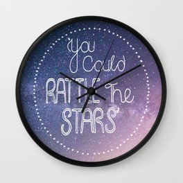 You Could Rattle The Stars — Throne of Glass by Sarah J Maas Wall Clock
