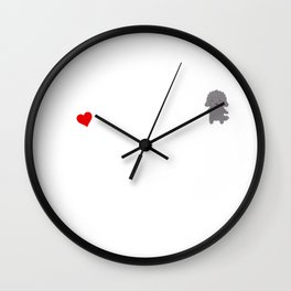 A Life Without A Poodle Is Like I Have No Idea Super Cute And Funny Dog Gift Idea Wall Clock