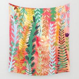 Hot Summer Flora Wall Tapestry