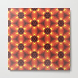 Magma Kaleidoscope Metal Print