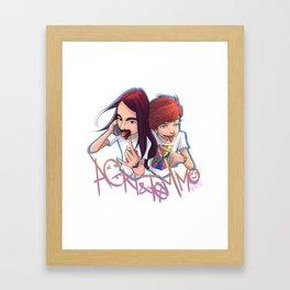 Just Hold On Framed Art Print
