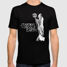 stairway to middle-earth Black Mens Fitted Tee LARGE
