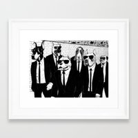 reservoir dogs Framed Art Prints featuring Reservoir Dogs by Vitrugo