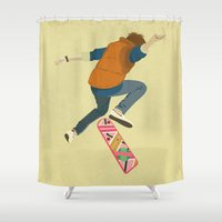 marty mcfly Shower Curtains featuring McFly by Danny Haas