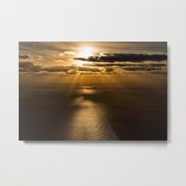 Sunrise over the Atlantic ocean Metal Print