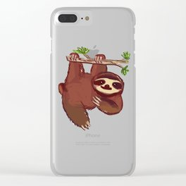 Adorable Sloth Clear iPhone Case