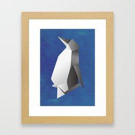 Paper origami Penguin Framed Art Print