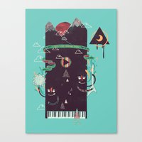 play Canvas Prints featuring Play! by Hector Mansilla