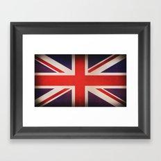 OLD UNITED KINGDOM FLAG Framed Art Print
