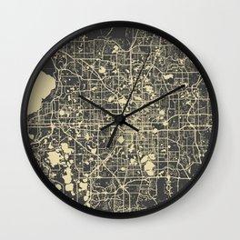 Orlando Map Wall Clock